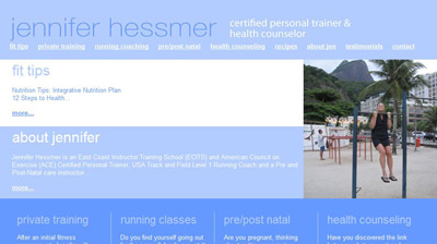 Jennifer Hessmer - Certified Personal Trainer & Health Counselor