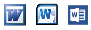 Microsoft Word Icons